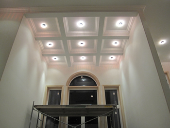 Beamed Coffered Ceilings Installtions Toronto Mdf Drywall