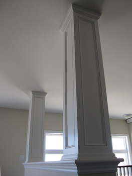 Images picture gallery crown moulding work installtion for Mdf square columns