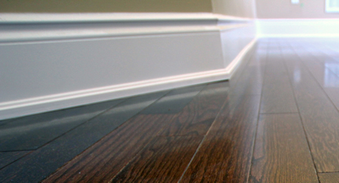 Mdf Wood Poplar Oak Shoe Mouldings Installed With