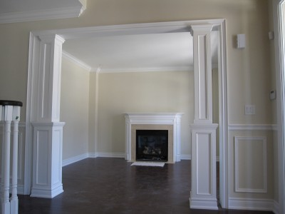 Crown moulding wainscoting interior exterior columns for Crown columns